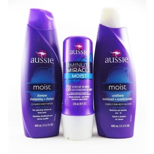4f68b8316 Kit Completo Aussie - Shampoo + Condicionador + Aussie 3 Minute Miracle  Moist