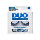Cílios Postiços com Cola DUO Professional Eyelashes D11 - Medium and Wispy