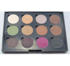 Paleta de sombras profissional LeSchí 12 cores - Magnética