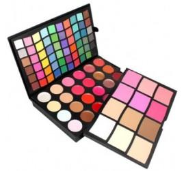 Niss Beauty  Kit paleta de Sombras, Blush, Pó, Corretivos e Batom